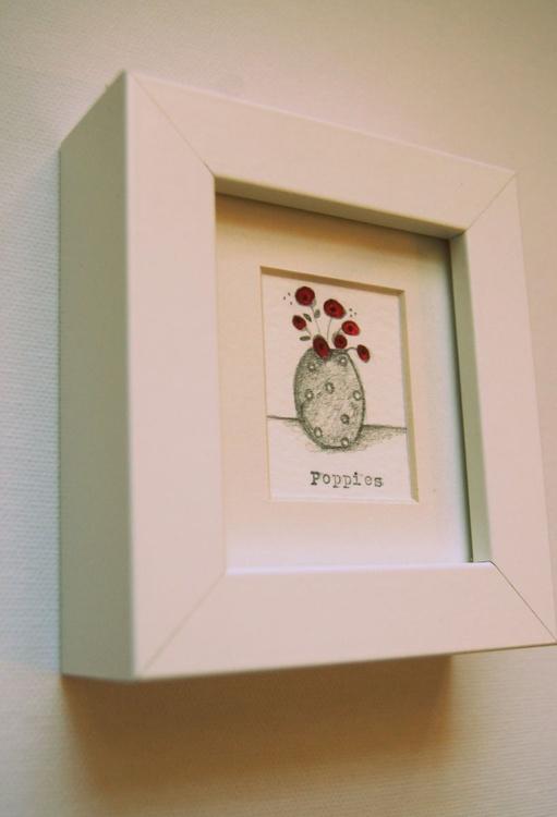 Framed Poppies I (miniature).. - Image 0