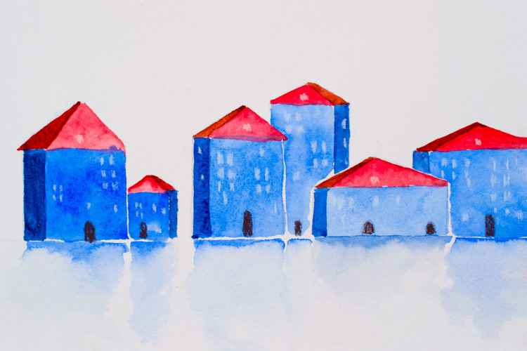Winter houses. -