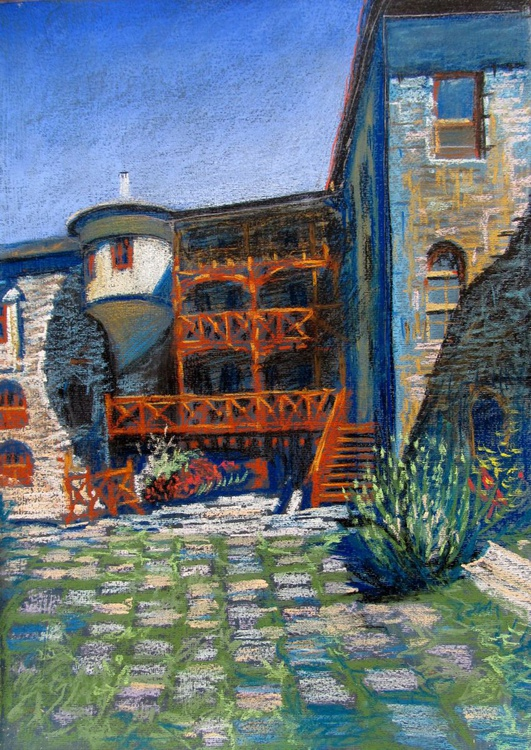 """The entrance to the monastery hotel ( from the series """"The Athos mountain"""") - Image 0"""