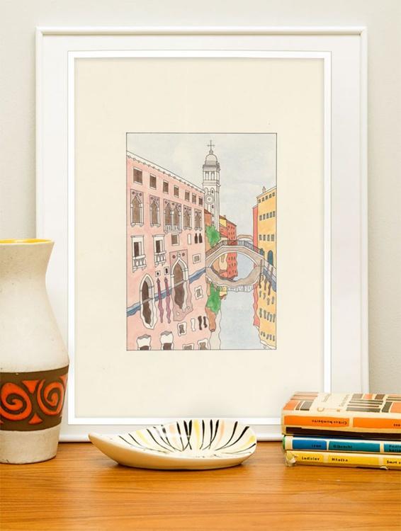 San Giorgio dei Greci watercolor - Image 0