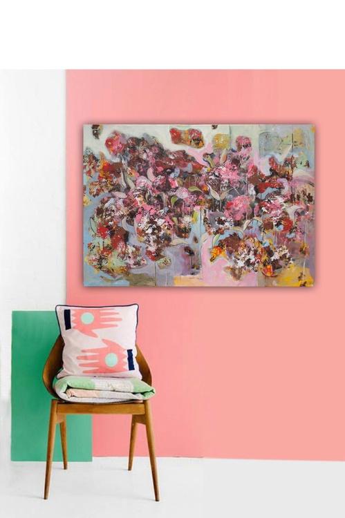 Canvas art 39.37/27.5(100/70cm). Flowers VIII. - Image 0
