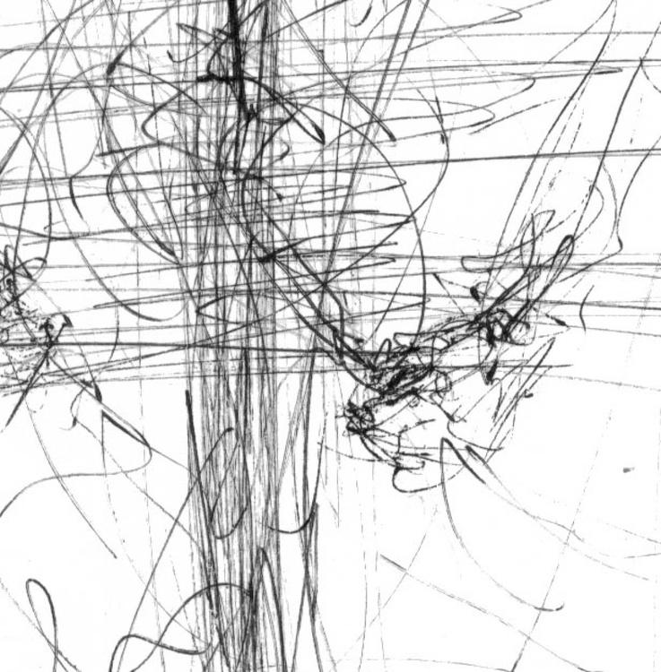human body lines energy like flying desire human angel the spiritual space ORIGINAL INK KLOSKA - Image 0