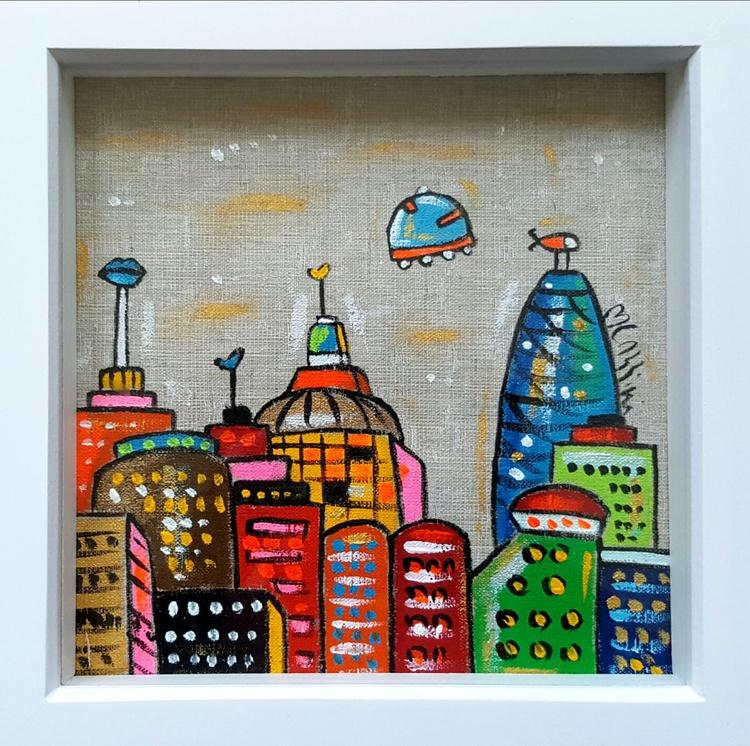 The imaginary Fabric City, framed - Image 0