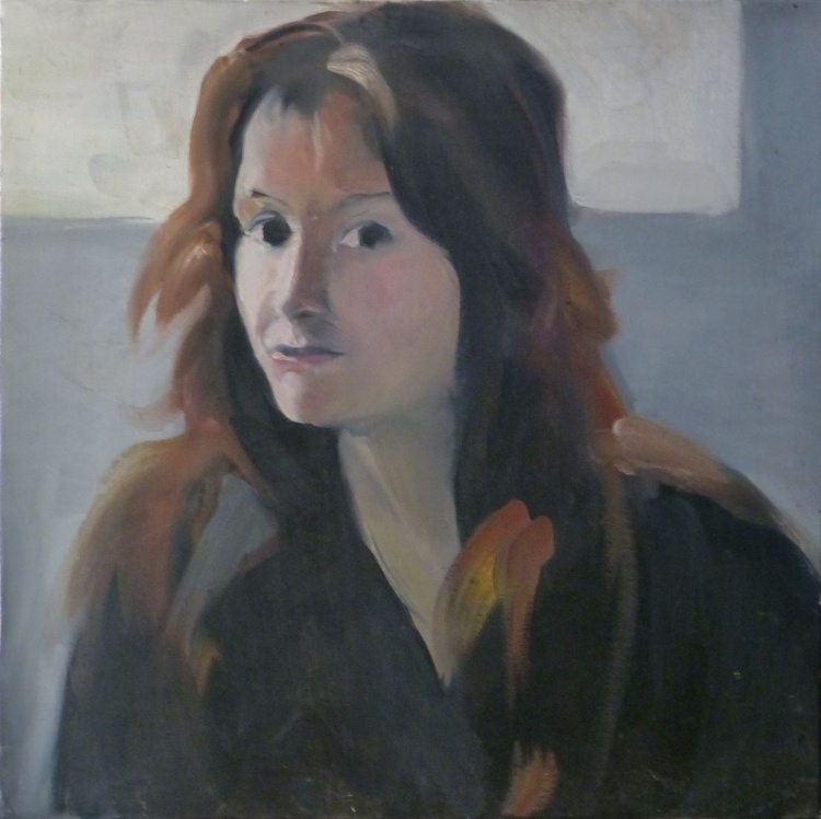 Portrait of a passer-by, oil on canvas 40x40 cm - Image 0
