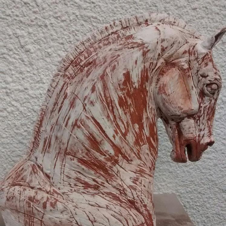 Roman Chariot Horse Head - Image 0