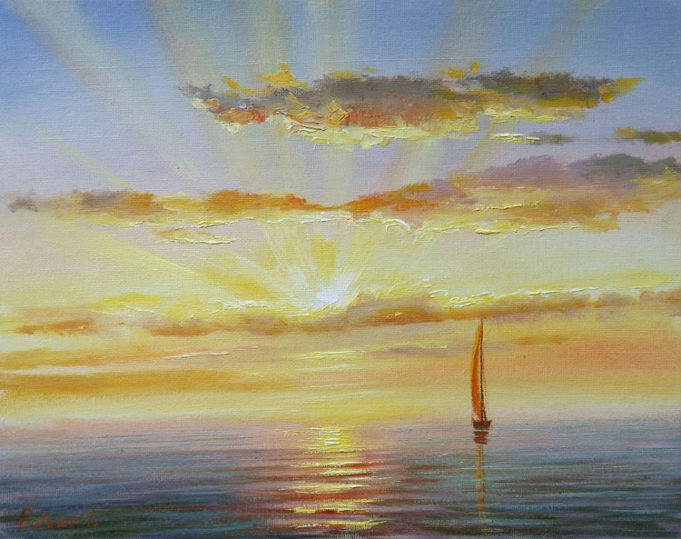 Boat in Sunset 2 - Image 0