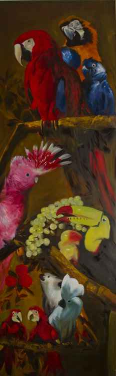 Parrots diptych 2 -