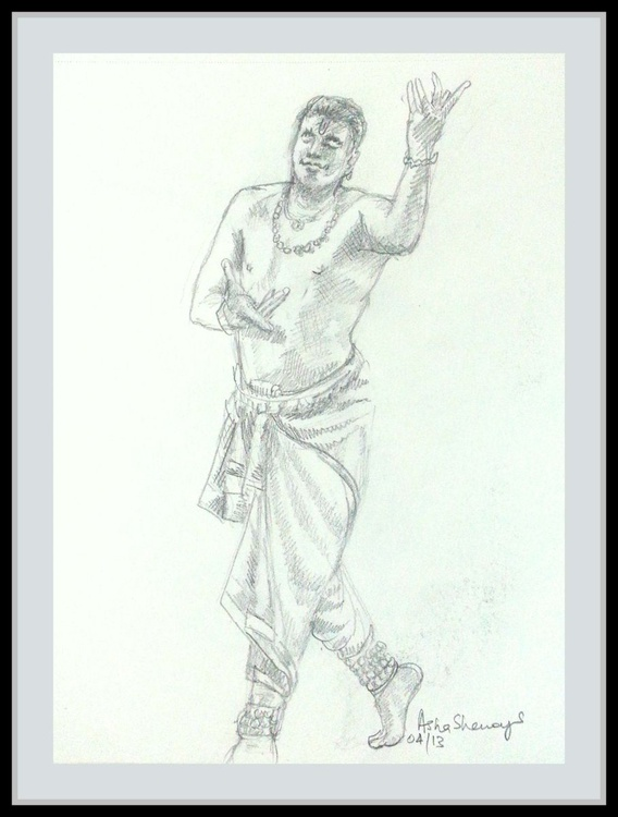 "Indian dancer 7- 8.25""x 11"" - Image 0"