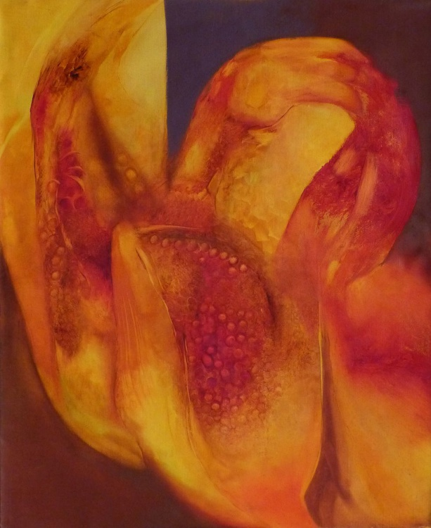 Liquid Flowers, oil on canvas 73x60 cm - Image 0