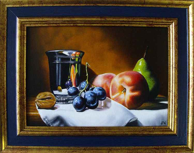 Peaches with Chardin's goblet