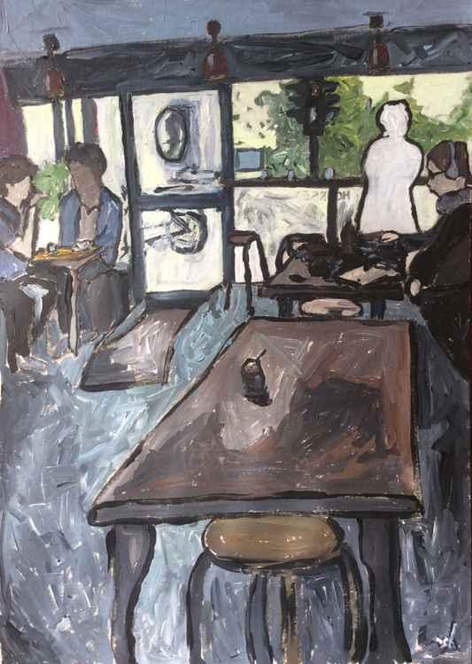 Cafe interior, cowley road