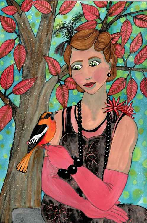Flapper with Oriole -