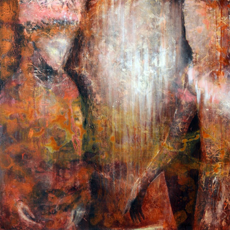 FANTASTIC LOVE NIGHT COUPLE ANCESTRAL WEDDING ETHERNAL LOVE ANCIENT RUST LOOK UNIQUE TEHNIQUE BY MASTER KLOSKA - Image 0