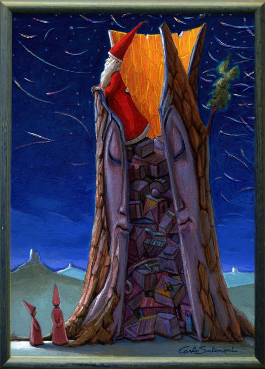 THE TREE OF CHRISTMAS GIFTS -(framed). - Image 0