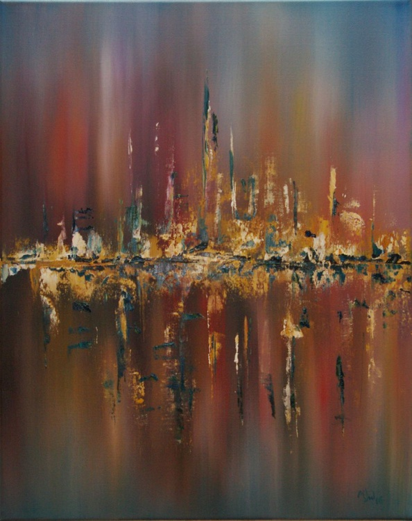 A Summers Evening - Abstract Landscape - Image 0