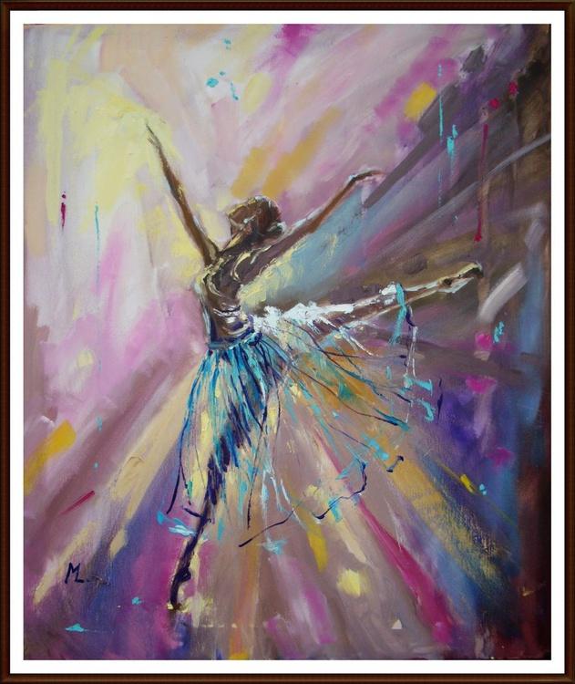 """ BALLET full of colours ""-  ligt , original oil painting - Image 0"