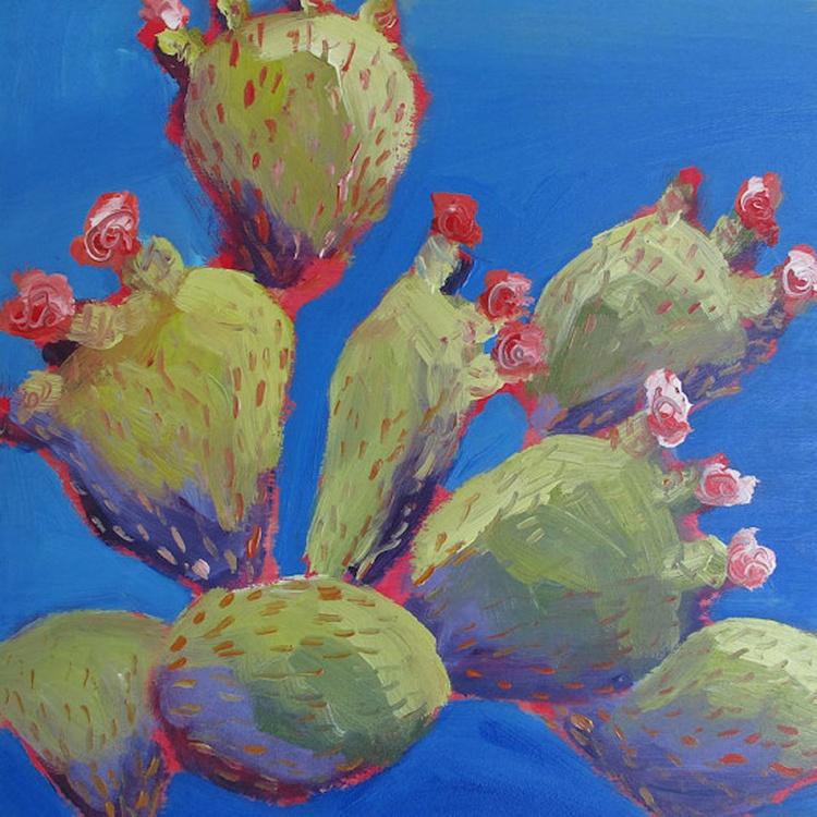 Flowering Cacti, Santorini - Image 0