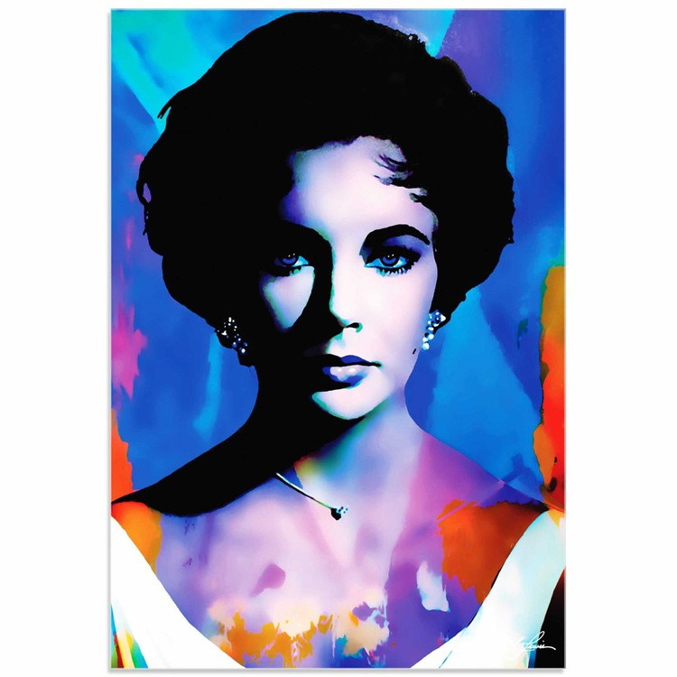 Mark Lewis 'Elizabeth Taylor The Color of Passion' Limited Edition Pop Art Print on Acrylic - Image 0
