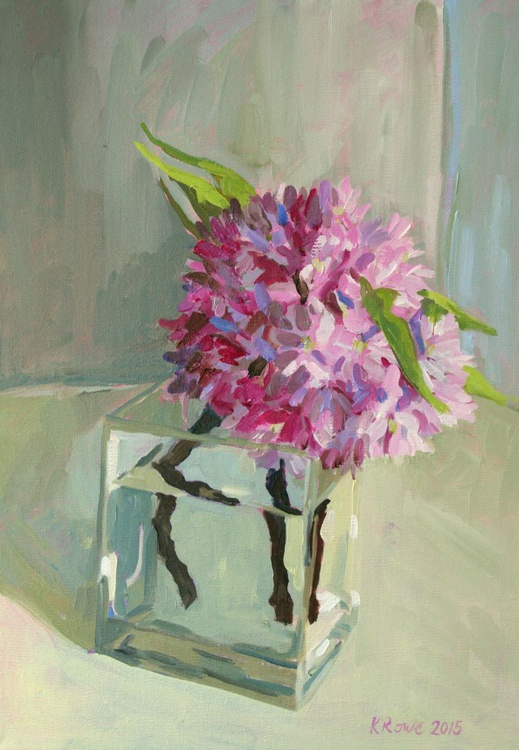 Cherry blossom oil sketch - Image 0