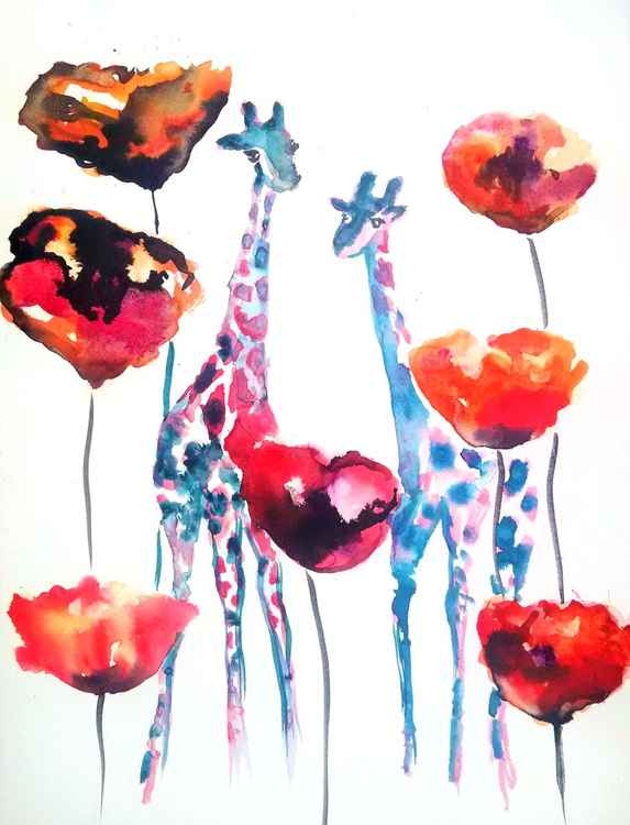 Poppies and Giraffes -