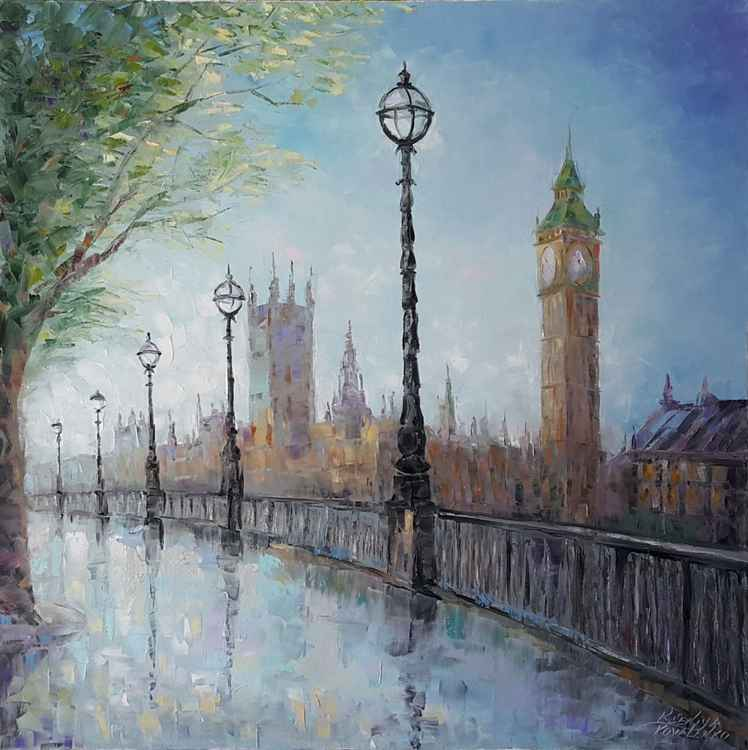 painting  *London* Oil on canvas 80х80 cm -