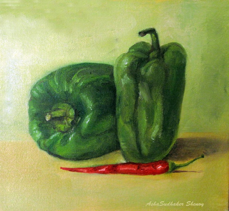Still life with peppers - Image 0