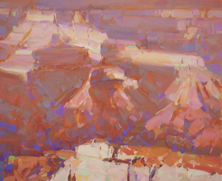Grand Canyon National Park Landscape oil painting  One of a kind Signed - Image 0
