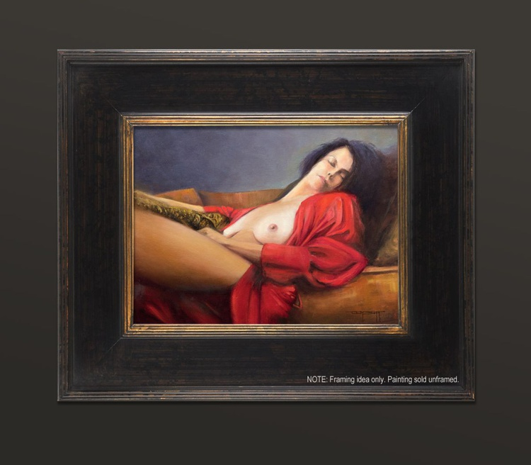 Red Robe, 12x16 inches - Image 0