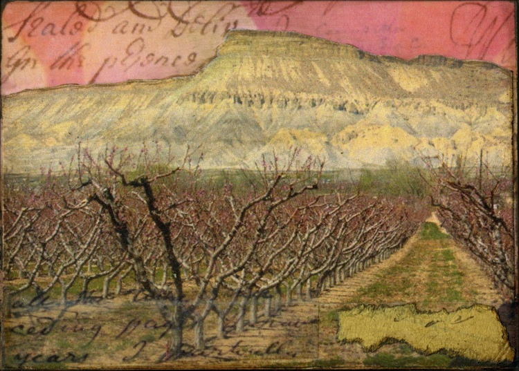 Orchards, Mixed Media Miniature (ACEO) - Image 0