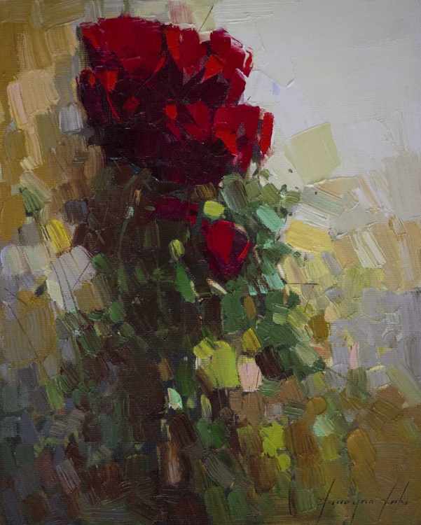 Abstract Roses Handmade oil Painting - Image 0