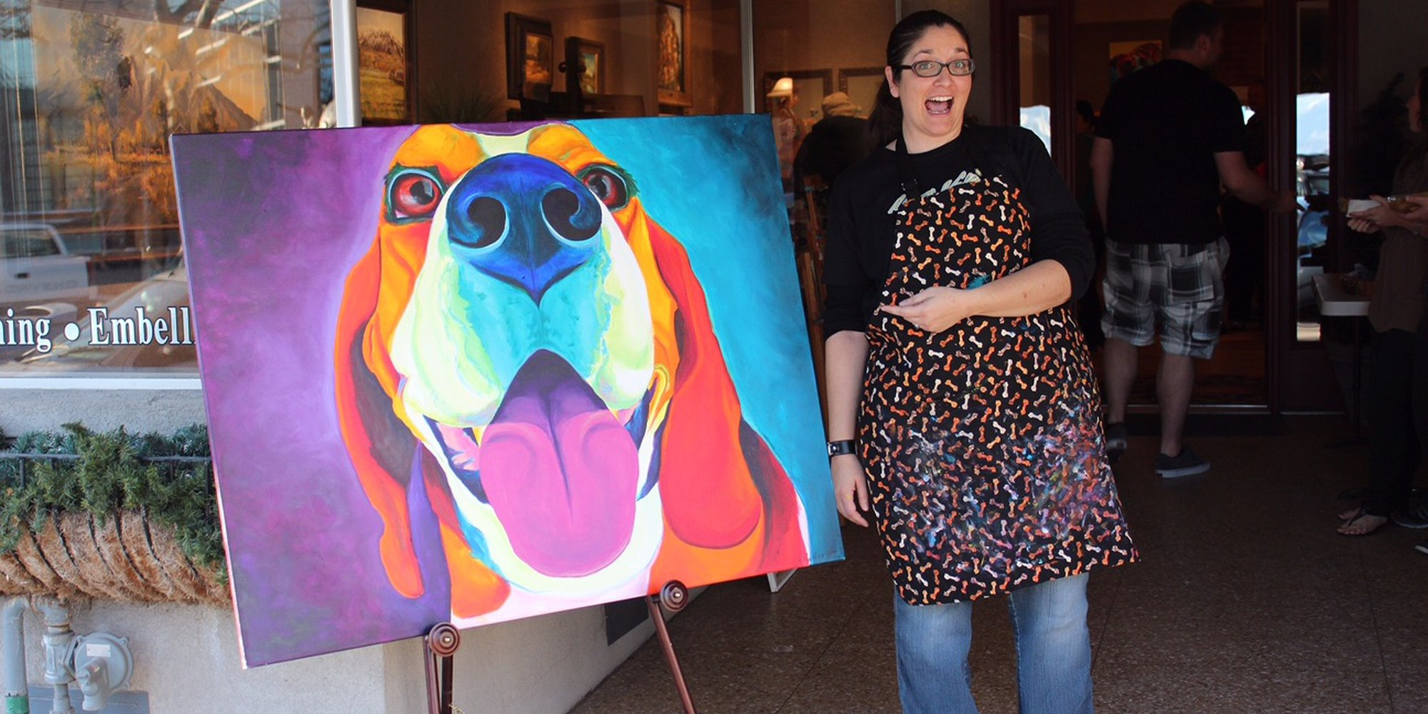 Fooled You! George W. Bush didn't join Artfinder, but pet portrait artist, Alicia VanNoy Call did