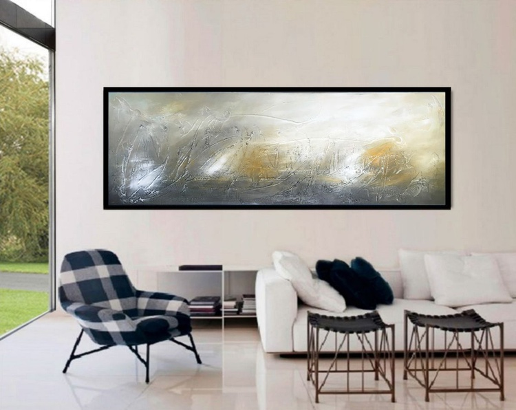 Extra large LandcapeTextured abstract painting - Image 0