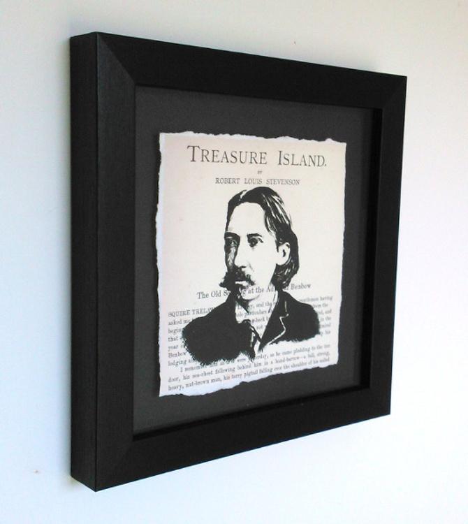 R. L. Stevenson - Treasure Island (Framed) - Image 0