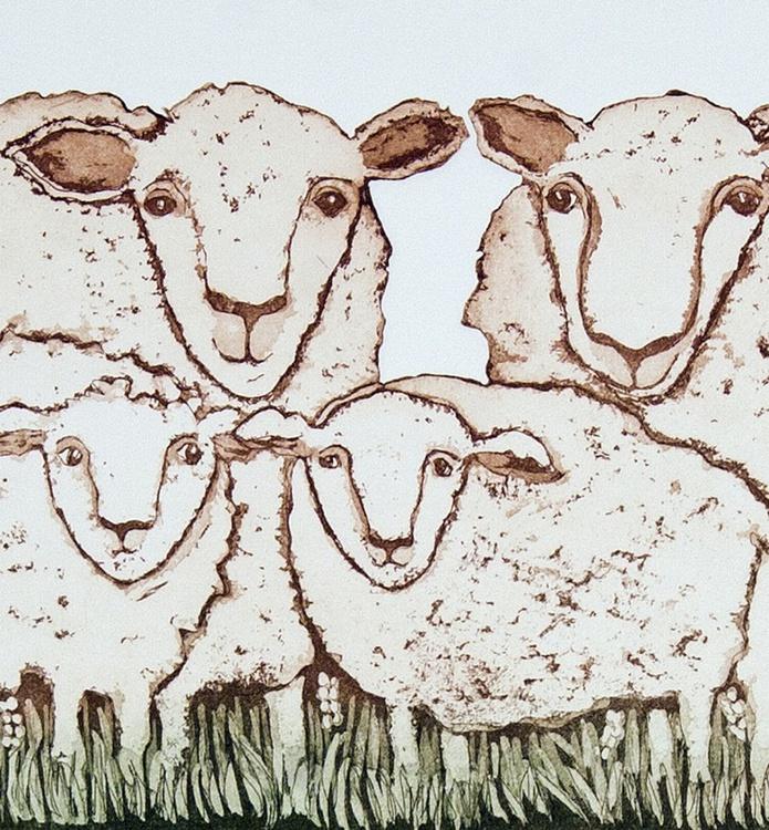 Family,  aquatint etching - Image 0