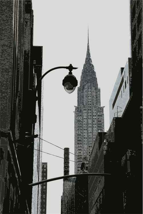 The Chrysler Building NY B&W -