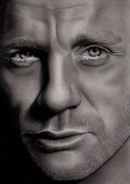Daniel Craig - A3 Framed Drawing -