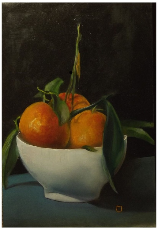 clementines in a white bowl - Image 0