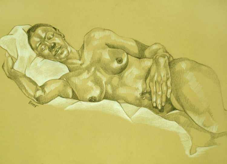 nude study sleeping