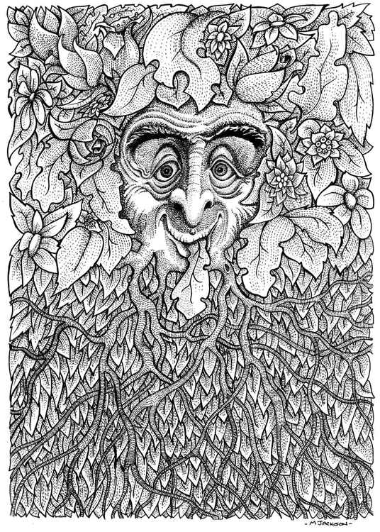 Illustration of Green Man image -