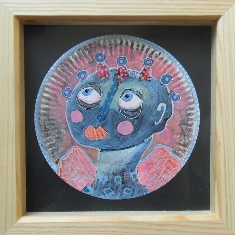 Blue Eyed Angel On Round Ground - Image 0