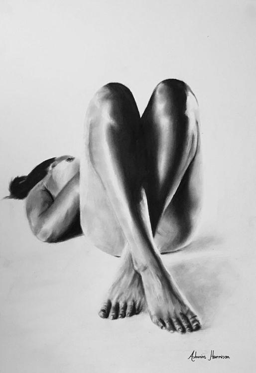 Nude Woman Charcoal Study 31 - Image 0