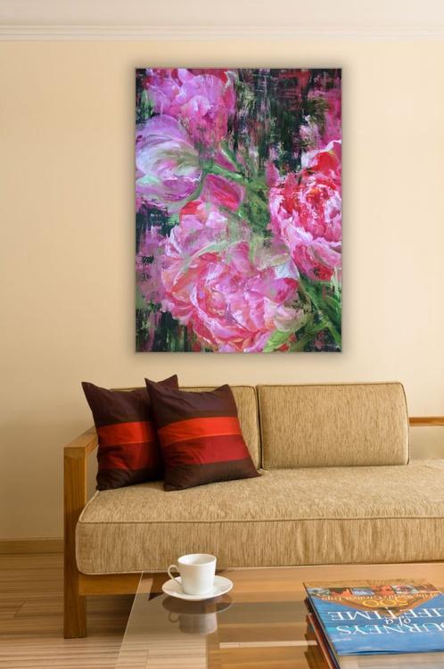 Original artwork Abstract flowers, Peonies, Peony painting - Image 0