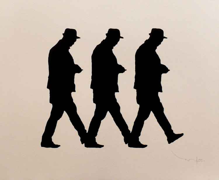 Three walking Men 03 -