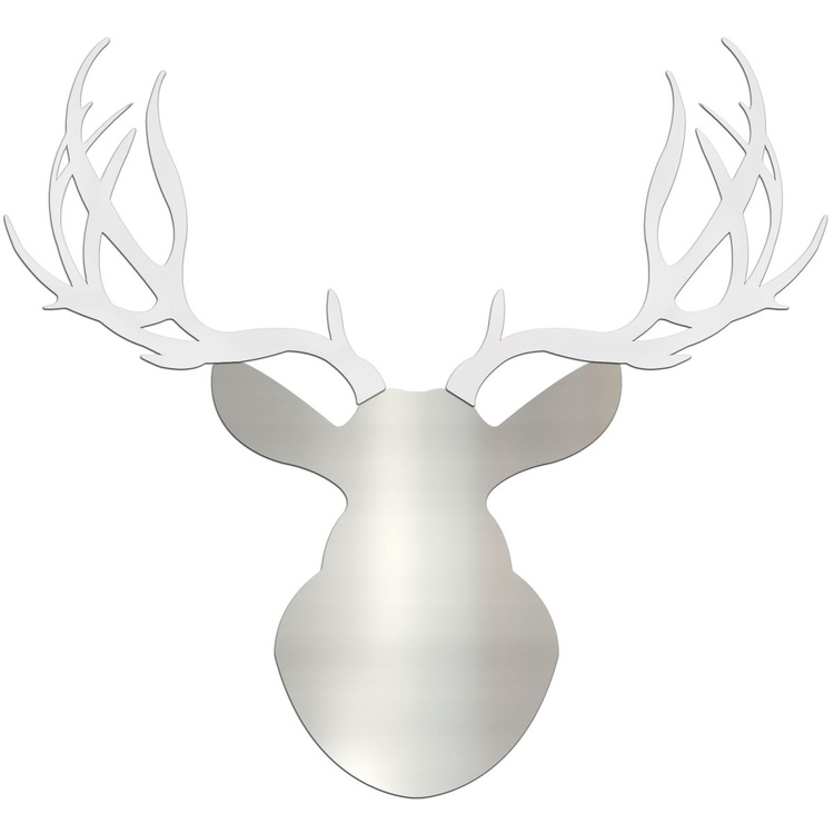 Winter Buck | Large Silver & White Deer Cut-Out - Image 0