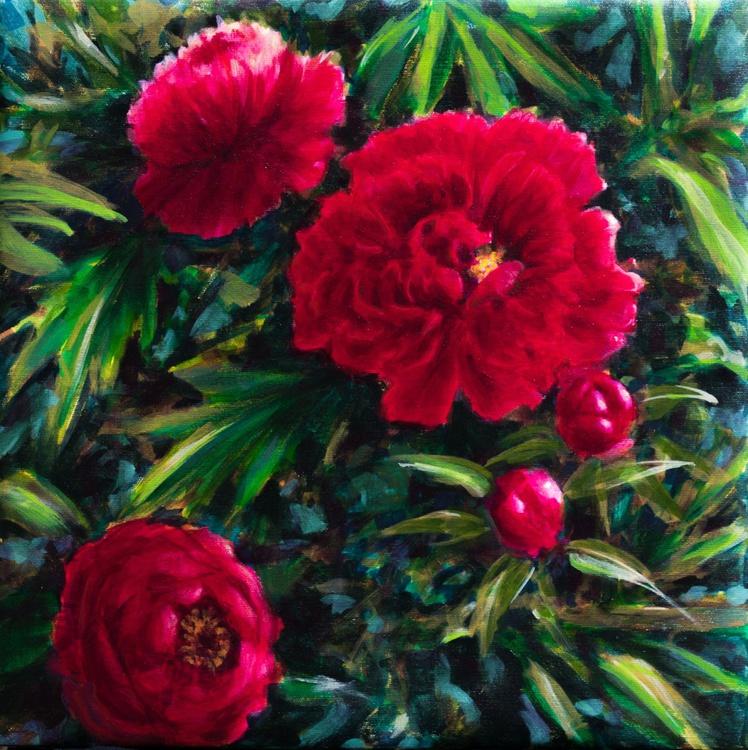 Red peonies - Image 0