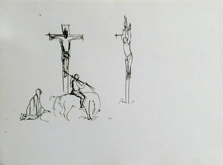 Calvary, 24x32 cm - Image 0