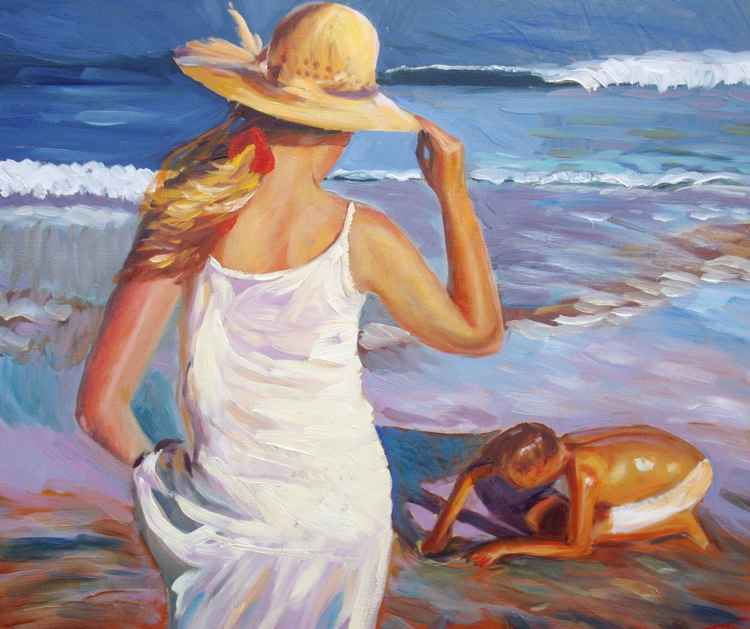At the beach -