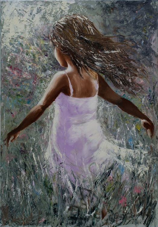 """Toward the sun""Original oil painting 70x100x2 cm. - Image 0"
