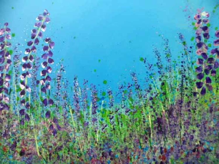 Foxgloves & Lavender - Image 0