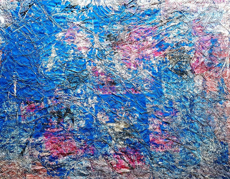 Coral city (n.231) - abstract landscape - 85 x 65 x 2,50 cm - ready to hang - acrylic painting on stretched canvas - Image 0